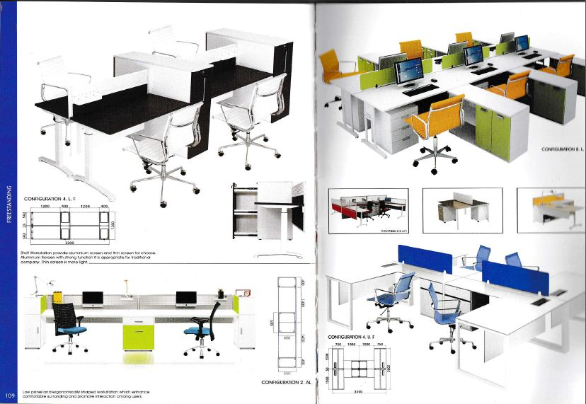 Indachi Workstation 1 Partisi Ruang Kantor